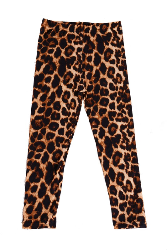 Girls Leopard Leggings