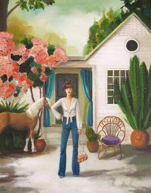 Janet Hill Studio - Pony Art Print - 8.5 X 11