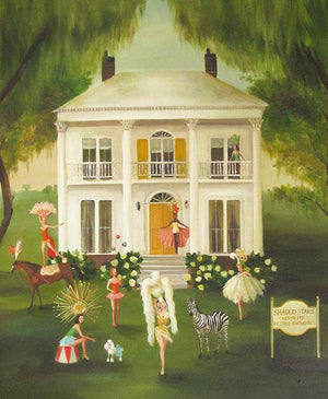 Janet Hill Studio - Shaded Stars, The Home For Retired Showgirls Art Print - Miss Scarlett Boutique