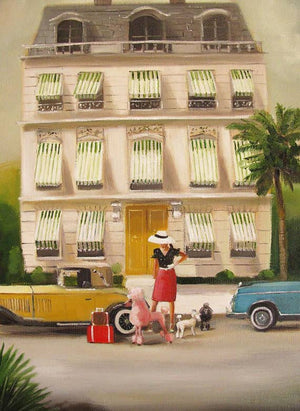 Janet Hill Studio - That Summer In Monte Carlo Art Print - 8.5 X 11