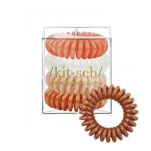KITSCH - Rose Hair Coils - Pack of 4 - Miss Scarlett Boutique