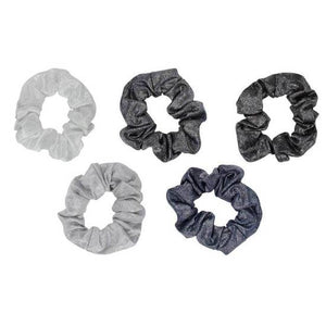 Black and Gray Metallic Scrunchies - Miss Scarlett Boutique