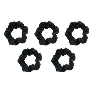 KITSCH - Satin Sleep Scrunchies - Black