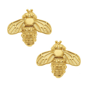Susan Shaw - Gold Bee Stud Earrings