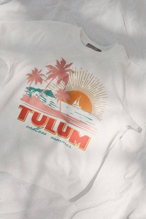 Mulberry & Grand - Take Me to Tulum Cotton Graphic Tshirt