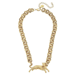 Susan Shaw - Gold Leopard Chain Necklace