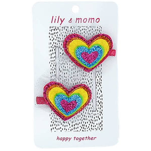 Lily and Momo - Sweet Hearts Hair Clips