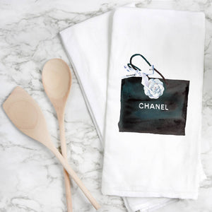 Chanel Art Purse Tea Towel