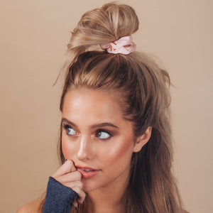 KITSCH - Blush Satin Sleep Scrunchies - Miss Scarlett Boutique