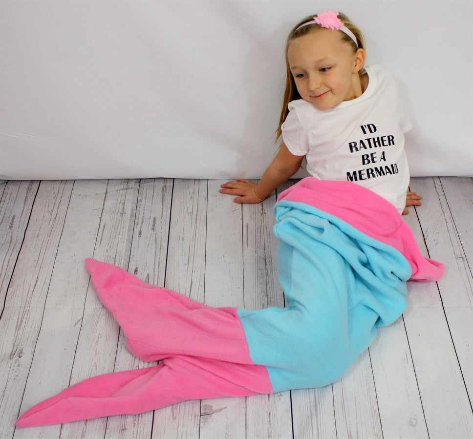 Mermaid Tail Blanket - Miss Scarlett   - 1