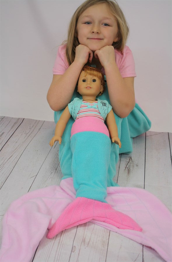Doll Mermaid Tail Blanket - Miss Scarlett Boutique