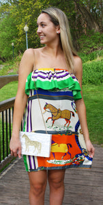 Strapless Ruffle Silk Equestrian Dress - Miss Scarlett Boutique