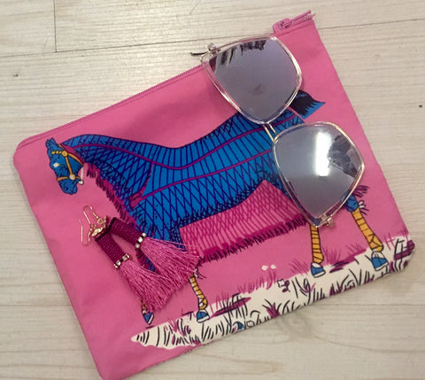 Silk Zip Horse Purse