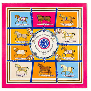 French Equestrian Silk Scarf (X- Large) - Miss Scarlett Boutique