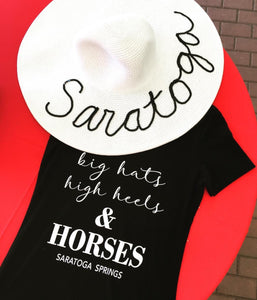 Big Hats High Heels and HORSES TShirt - Miss Scarlett Boutique