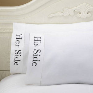 Peking Handicraft - Her Side & His Side Pillowcases (One Pair)