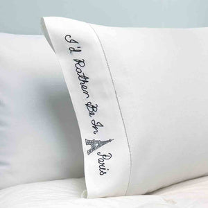 Peking Handicraft - I'd Rather Be In Paris Pillow Case (Set of 2)