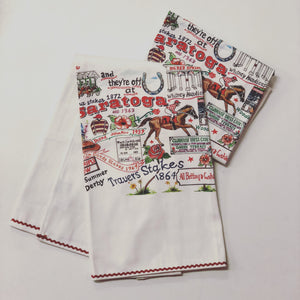 and They're off at Saratoga Dish Towel - Miss Scarlett Boutique