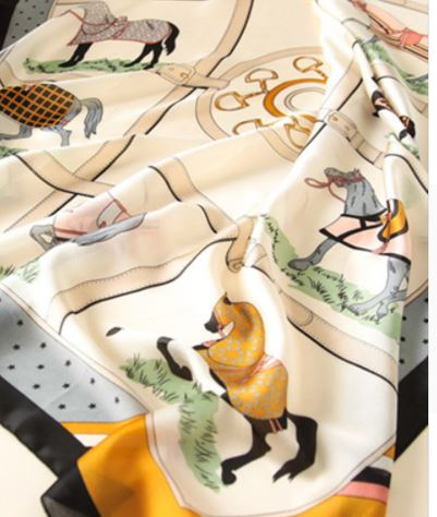 Oblong Horse Scarf - Miss Scarlett Boutique
