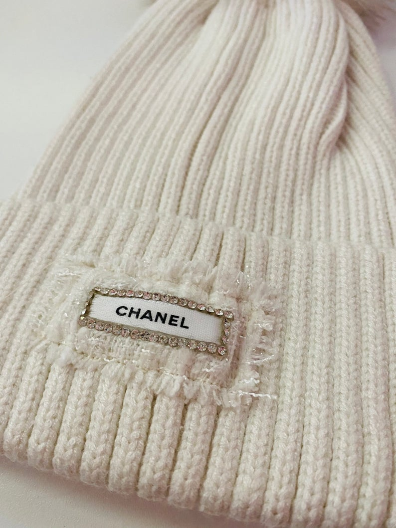 Upcycled Chanel Beanie