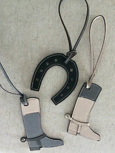Leather Horseshoe Purse Tag - Miss Scarlett Boutique