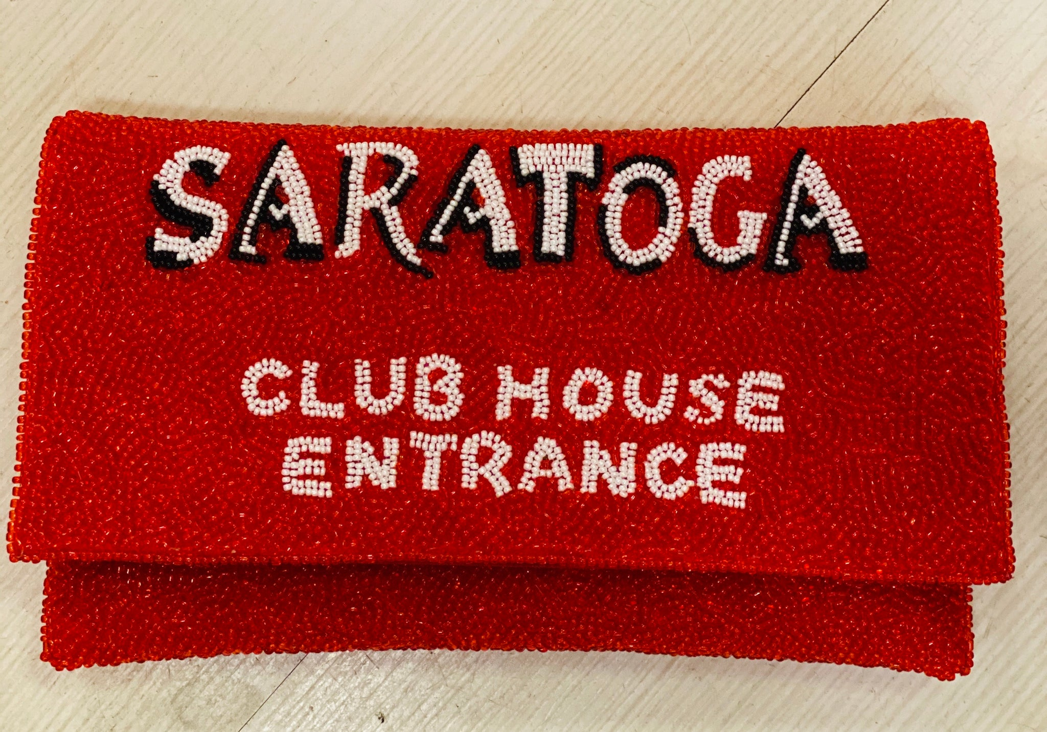 Beaded Saratoga Clubhouse Clutch - Miss Scarlett Boutique