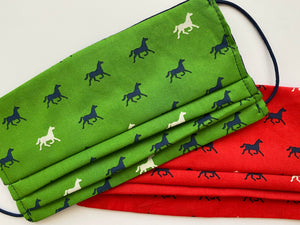 Horse Print Masks- lined with cotton knit - Miss Scarlett Boutique