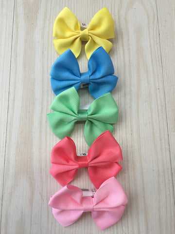 Pastel Bow Clips - Miss Scarlett Boutique