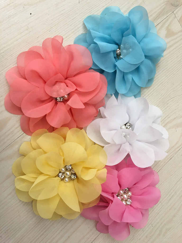 Crystal Floral Hair Clip - Miss Scarlett Boutique