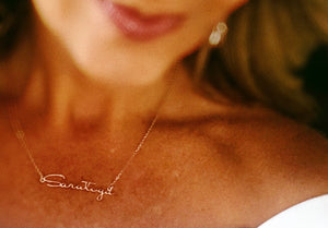 Saratoga Script Necklace