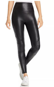 SPANX Faux Leather Quilted Leggings - Miss Scarlett Boutique