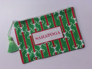 a Saratoga Snaffle Bit Zip Pouch - Miss Scarlett Boutique