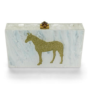 Exclusive Horse Lucite Clutch Purse - Miss Scarlett Boutique