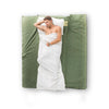 Cottonpod sleeping bag liner & travel sheet white
