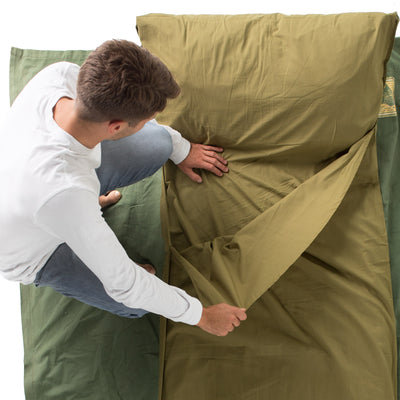 Cottonpod sleeping bag liner & travel sheet meadow