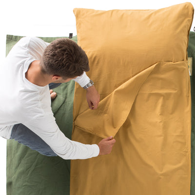 Cottonpod sleeping bag liner & travel sheet whisky