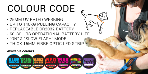LED COLLAR COLOUR CODE