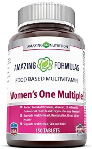 Amazing Formulas Women's One Multiple - 150 Tablets - Perfect blend of 25 CFU