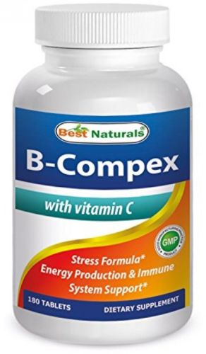 Best Naturals B-Complex with Vitamin C Tablet, B Complex Stress Formula, B 180