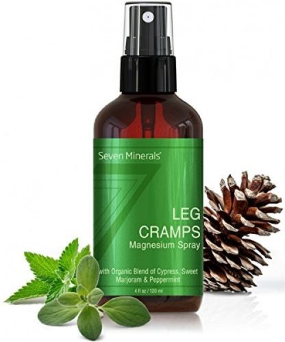 All Natural Magnesium Leg Cramps Pain Relief Spray with Pure Essential Oil and