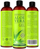 BEST Aloe Vera Gel - 99% Organic - NO XANTHAN, Absorbs Rapidly, No Residue - -
