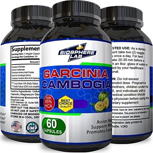 #1 All Natural Garcinia Cambodia Weight Loss Supplements - Pure 95% HCA Extract