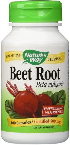 2PK Natures Way 1000 Mg Premium Beet Root | Beta Vulgaris | 100 Caps Per Bottle