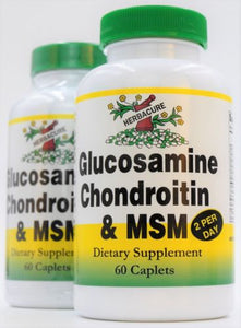 2PK Triple Stregth Glucosamine Chondroitin and MSM 60 Tablets by Herbacure