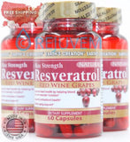 3PK Resveratrol | Anti-aging | Anti-oxidant | 500mg | 60 Cap by Earths Creation