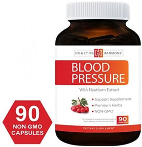 Best Blood Pressure Support Supplement (NON-GMO) - Premium Natural Herbs, and -