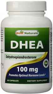 Best Naturals DHEA 100mg Supplement 60 Capsules - Supports Balanced Hormone For