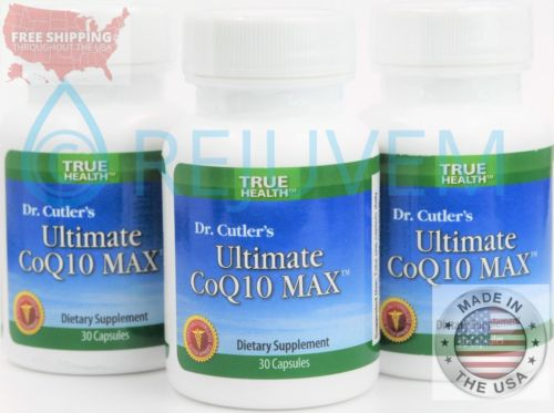 3PK Ultimate CoQ10 MAX | Co-enzyme Q10 Guaranteed to DOUBLE CoQ10 by True Health