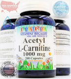 3PK Acetyl L-Carnitine 1000mg Energy Chronic Fatigue Focus Weight Loss 200 caps