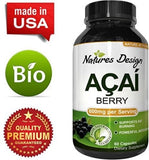 Acai Berry Concentrate Capsules ? Antioxidant Dietary Supplement for Weight +